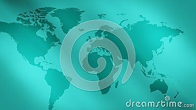 Πράσινοι αφηρημένοι υπόβαθρο φω'των και παγκόσμιος χάρτης