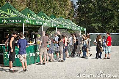 Πράσινο φεστιβάλ Tuborg Εκδοτική εικόνα