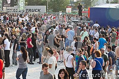 Πράσινο φεστιβάλ Tuborg Εκδοτική Στοκ Εικόνα