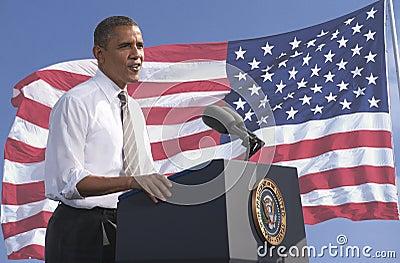 Πρόεδρος Obama Εκδοτική Εικόνες
