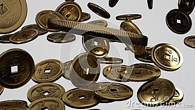 Πτώση κάτω από τα νομίσματα της Κίνας φιλμ μικρού μήκους