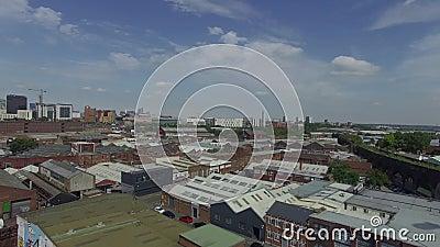 Πόλη του Μπέρμιγχαμ από τον κηφήνα, Ηνωμένο Βασίλειο απόθεμα βίντεο