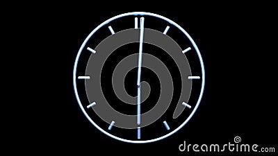 ρολόι μεταλλικό απόθεμα βίντεο