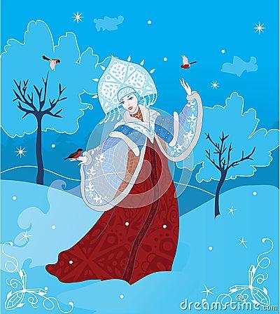 Ρωσικό ύφος κοριτσιών χιονιού
