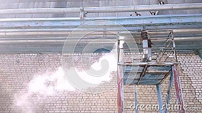 Σημαντικός σωλήνας με τον ατμό emergency E απόθεμα βίντεο