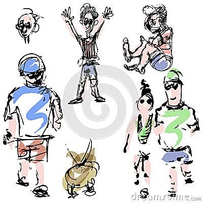 Σκίτσα ανθρώπων