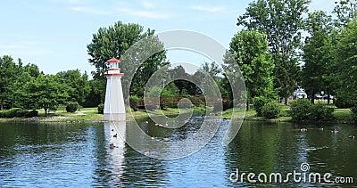 Σκηνή του πάρκου του Ουέλλινγκτον σε Simcoe, Καναδάς 4K απόθεμα βίντεο