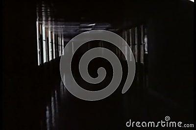 σκοτεινός διάδρομος μα&kapp απόθεμα βίντεο