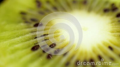 Στενός ένας επάνω ακτινίδιων σε ένα μαύρο υπόβαθρο Juicy πράσινος ένα ακτινίδιο σε ένα μαύρο υπόβαθρο στενός καρπός επάνω το ακτι απόθεμα βίντεο