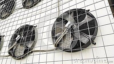 Στενός επάνω περιστροφής λεπίδων κλιματιστικών μηχανημάτων απόθεμα βίντεο