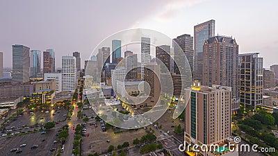 Στο κέντρο της πόλης ορίζοντας του Χιούστον, Τέξας, ΗΠΑ
