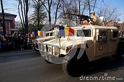 Στρατιωτική παρέλαση Εκδοτική Στοκ Εικόνα