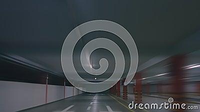 Σφάλμα Hiper, πηγαίνουμε υπόγειος χώρος στάθμευσης απόθεμα βίντεο
