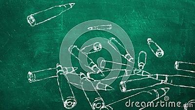Σφαίρες που πέφτουν κάτω απόθεμα βίντεο