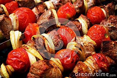 σχάρα kebab shish