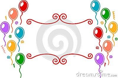 σχέδιο εορτασμού μπαλονιών