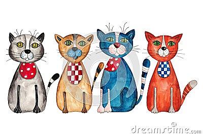 Τέσσερις γάτες
