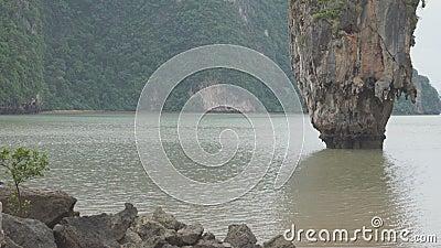 Ταϊλάνδη - τροπικός παράδεισος του κόλπου phang-Nga νησιών του James Bond Τοπικά γνωστός ως Ko Tapu ή νησί καρφιών απόθεμα βίντεο