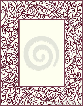 Floral πλαίσιο Stylization