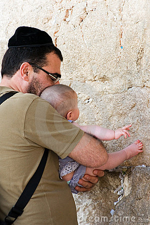 τοίχος της Ιερουσαλήμ δυτικός Εκδοτική Στοκ Εικόνα