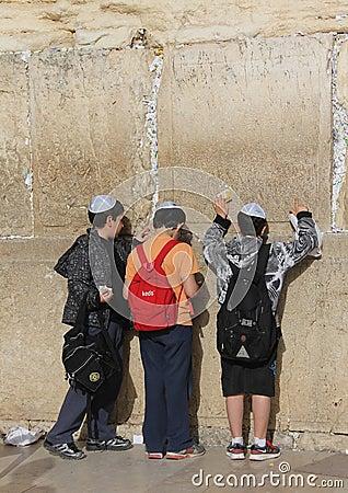 τοίχος του Ισραήλ Ιερουσαλήμ δυτικός Εκδοτική εικόνα