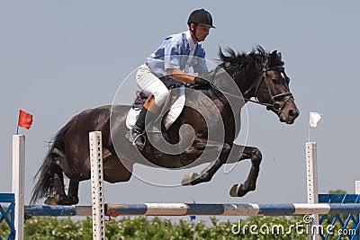 το άλογο που πηδά εμφανίζ&ep