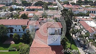 Το δικαστήριο 1 Santa Barbara απόθεμα βίντεο