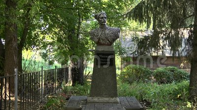 Το μνημείο στο ήρωα Vasily Chapayev εμφύλιου πολέμου απόθεμα βίντεο