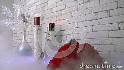 Το Santa είναι ερχόμενος Χριστούγεννα και νέο έτος απόθεμα βίντεο