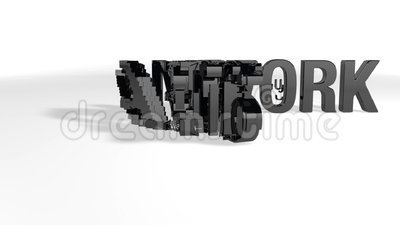 Το Word TEAMWORK μετατρέπεται σε λέξη ΕΠΙΤΥΧΙΑ μέσω διάλυσης σωματιδίων, ενώ η κάμερα μετακινείται από αριστερά προς τα δεξιά απεικόνιση αποθεμάτων