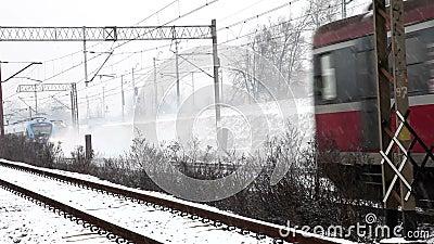 Τραίνο τρία σε έναν πυροβολισμό απόθεμα βίντεο