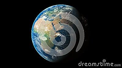 τρισδιάστατος δώστε τον κόσμο που περιστρέφει την άνευ ραφής ζωτικότητα βρόχων που παρουσιάζει πλανήτη Γη απόθεμα βίντεο
