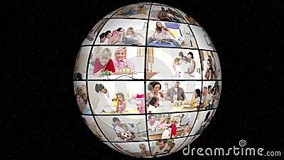 τρισδιάστατη ζωτικότητα της οικογένειας όλη η ημέρα-ζωή φιλμ μικρού μήκους