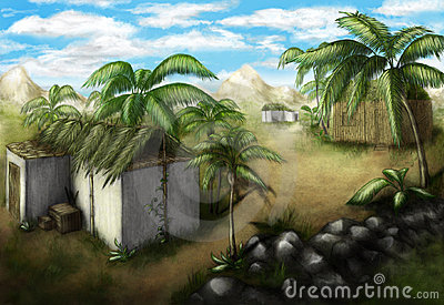 τροπικό χωριό