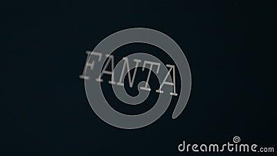 Φαντασία λέξης δακτυλογράφησης απόθεμα βίντεο