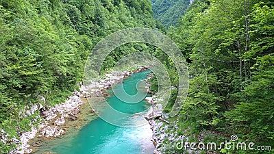 Φαράγγι ποταμών βουνού απόθεμα βίντεο