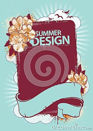 φρέσκο καλοκαίρι σχεδί&omicron