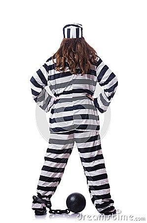 Φυλακισμένος ριγωτό σε ομοιόμορφο