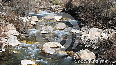 Φυσικός καταρράκτης και ποταμός Περιβάλλον, τοπίο απόθεμα βίντεο