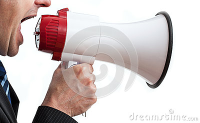 Φωνάζοντας επιχειρηματίας