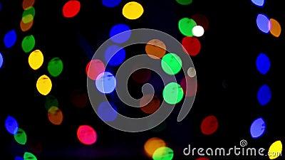 Φω'τα Bokeh όμορφα Χριστούγεννα ανασ&ka νέο έτος Χριστουγέννων Εορταστική περίληψη υποβάθρου Χριστουγέννων ελαφριά απόθεμα βίντεο