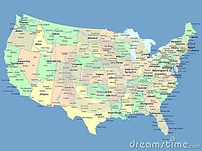 Χαρτογραφούν τα κράτη ηπα ονομάτων