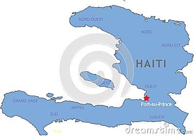 χάρτης της Αϊτής