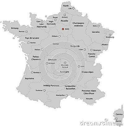 Χάρτης της Γαλλίας