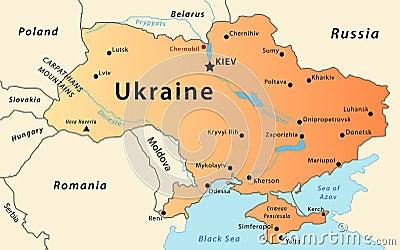 Χάρτης της Ουκρανίας