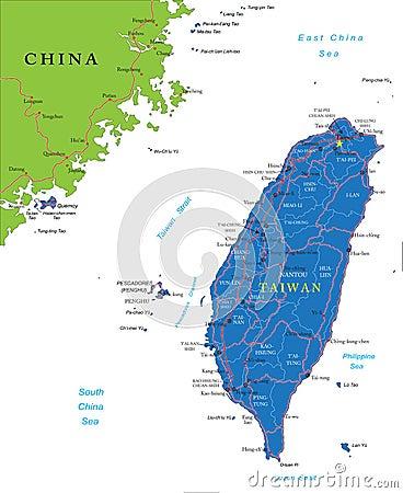 Χάρτης της Ταϊβάν