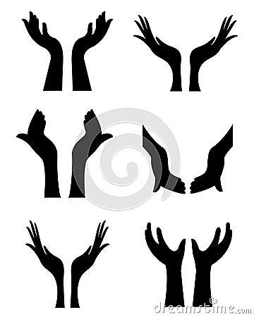 χέρια ανοικτά