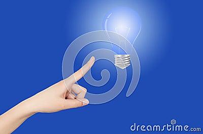 Χέρι λαμπών φωτός