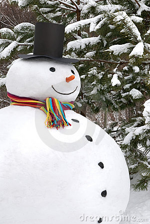 χαμογελώντας χιονάνθρωπ&om