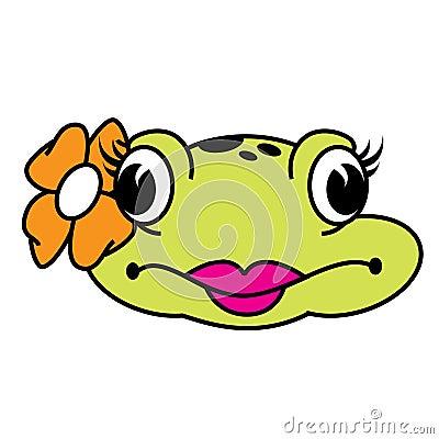 Χαριτωμένος θηλυκός βάτραχος